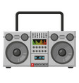old tape recorder device flat vector image