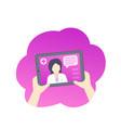 online medical diagnosis medic consultation vector image vector image