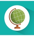Planet icon Education concept Flat vector image