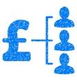 Pound Recipients Grainy Texture Icon vector image vector image