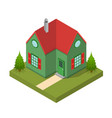 residential building isometric view vector image vector image