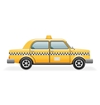 Retro Taxi Car Icon Isolated Realistic 3d Design vector image vector image