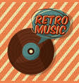 retro vintage music vector image