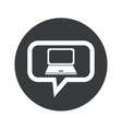 Round laptop dialog icon vector image vector image