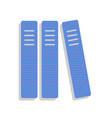 row of binders office folders icon neon vector image
