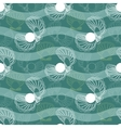 seamless pattern with waves and shells vector image