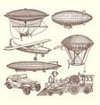 Set machines in steampunk style