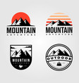 set mountain outdoor logo vintage vector image vector image