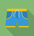 Shorts icon Modern Flat style with a long shadow vector image vector image