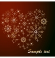 Snowflakes heart vector image vector image