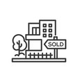 sold sign - line design single isolated icon vector image