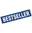 square grunge blue bestseller stamp vector image vector image