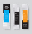 templates for vertical web banners with space vector image vector image