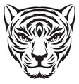 tiger face tattoo vintage engraving vector image