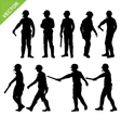 Traffic police silhouettes vector image vector image