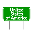 United States of America road sign vector image vector image