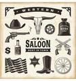 Vintage Western Set vector image vector image