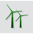 Wind generator icon Wind turbines vector image vector image