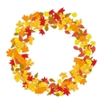 Wreath from yellow autumn leaves Design element vector image vector image