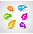 Colorful New Labels Stickers Tags vector image