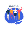 about us - flat design style colorful vector image