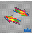 arrow icon arrow abstract logo template vector image vector image