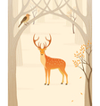 Autumn forest vector image