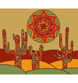 background with traditional mexican ornament vector image vector image