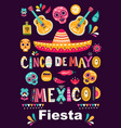 beautiful with design for mexican ho vector image vector image