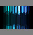 blue frequency bar overlap in dark background vector image vector image