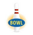 bowl sign vector image vector image