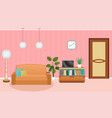 bright colors living room interior with furniture vector image vector image