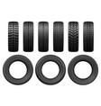 car tires tread tracks vector image