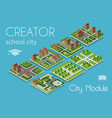 city module creator vector image