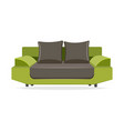 couch with pillows isolated comfortable couch vector image vector image