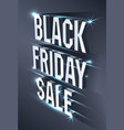 dark banner for black friday sale metallic vector image vector image
