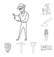 design of story and research icon set of vector image vector image