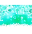 Elegant christmas green with snowflakes EPS 8 vector image
