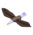 falcon eagle icon isometric style vector image vector image
