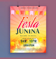 festa junina invitation card design vector image vector image