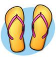 flip flops design concept vector image