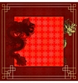 frame red dragon gold-colored sticker 7 vector image vector image