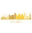 Frankfurt City skyline golden silhouette vector image vector image