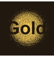 gold particles background vector image vector image