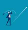 golfer post swing businessmen play golf concept vector image vector image