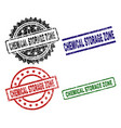 grunge textured chemical storage zone seal stamps vector image vector image