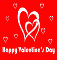 happy valentines card vector image vector image