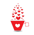 Heart pot card Valentines Day vector image vector image