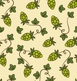Hops Seamless watercolor pattern with hops flower vector image vector image