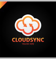 infinity cloud logotype design cloud letter s vector image